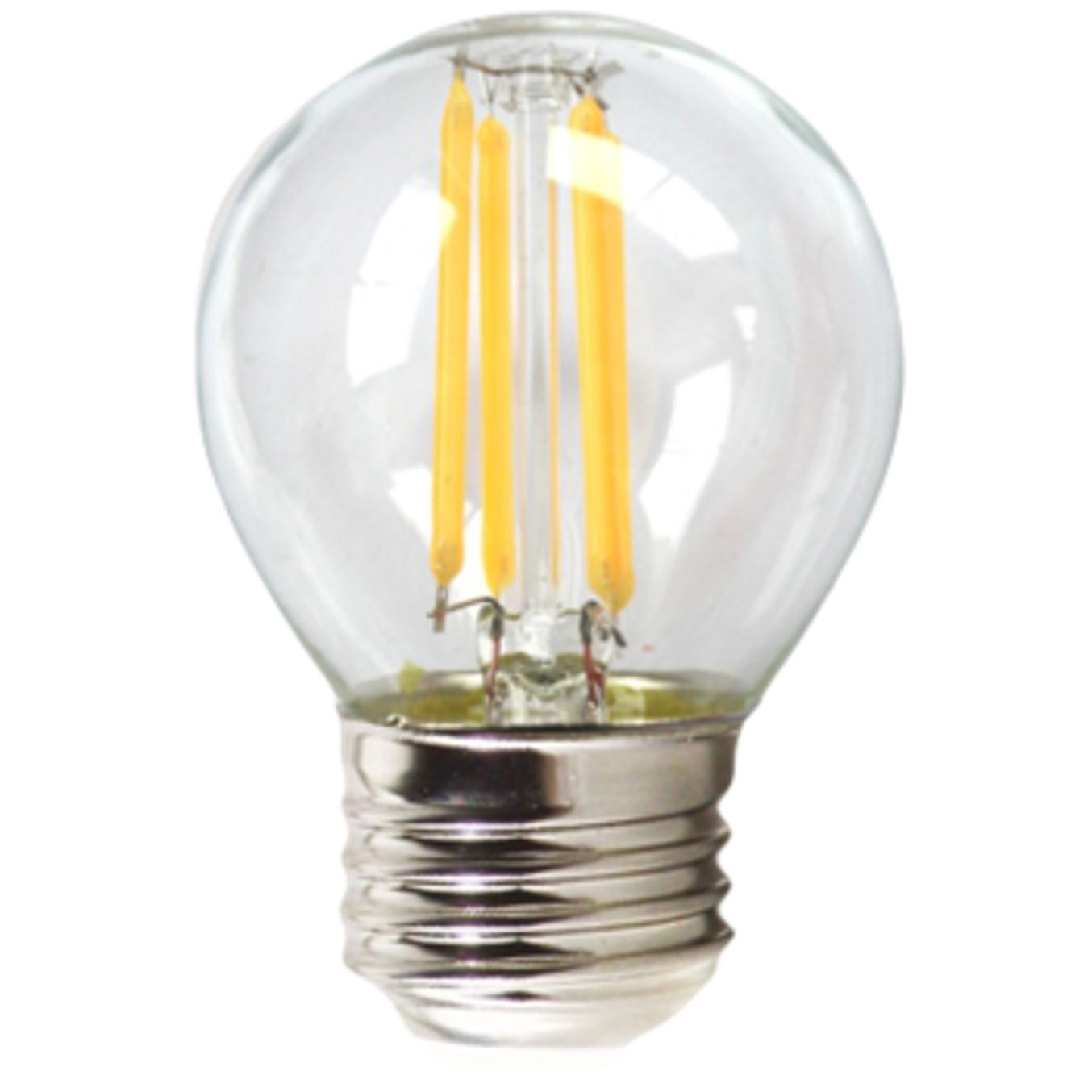 Bombilla led silver electronic filamento transparente esferica 4w=60w -  e27 -  3000k luz calida -  a++