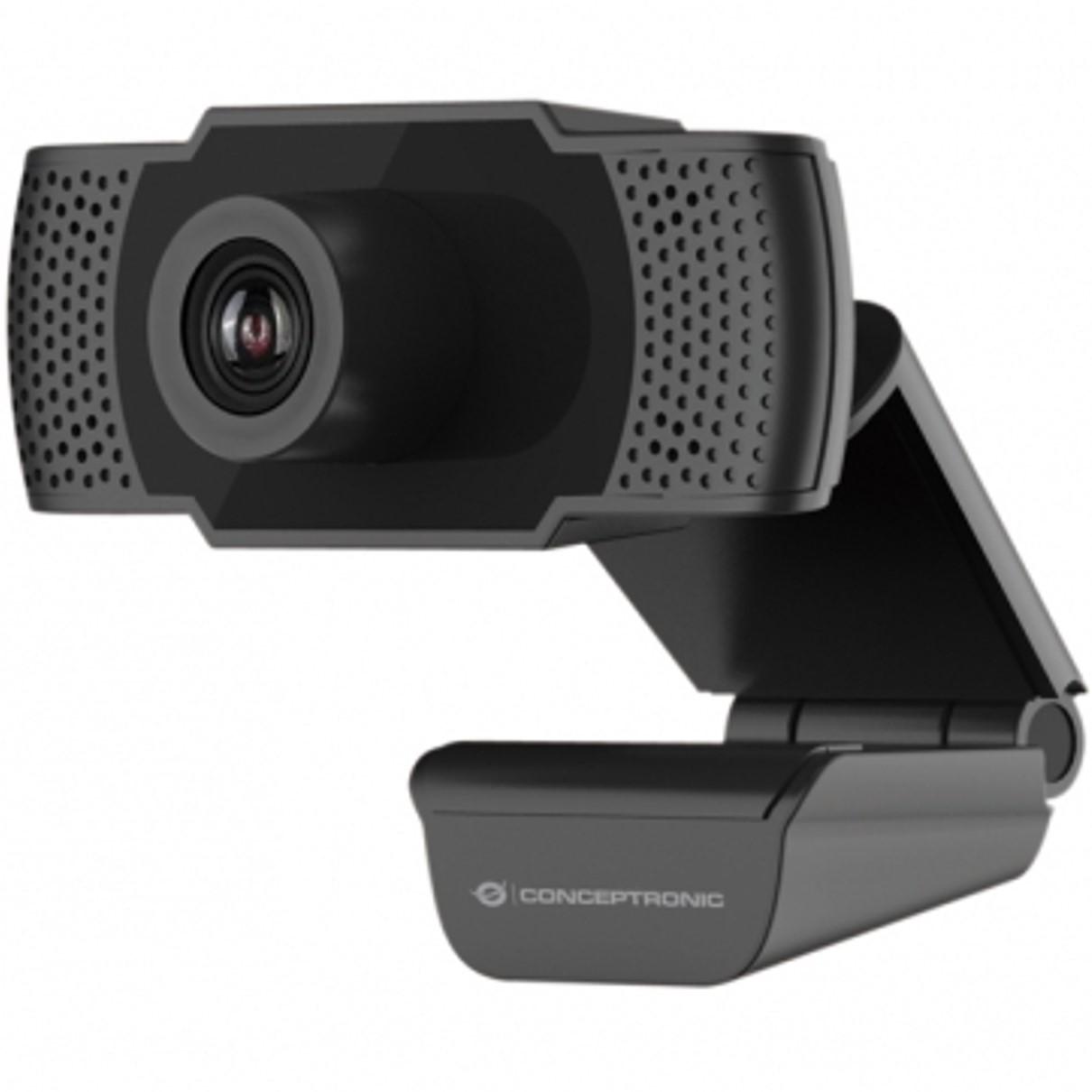 Webcam fhd conceptronic amdis01b - 1080p - usb 2.0 - 30 fps - angulo vision 90º - microfono integrado