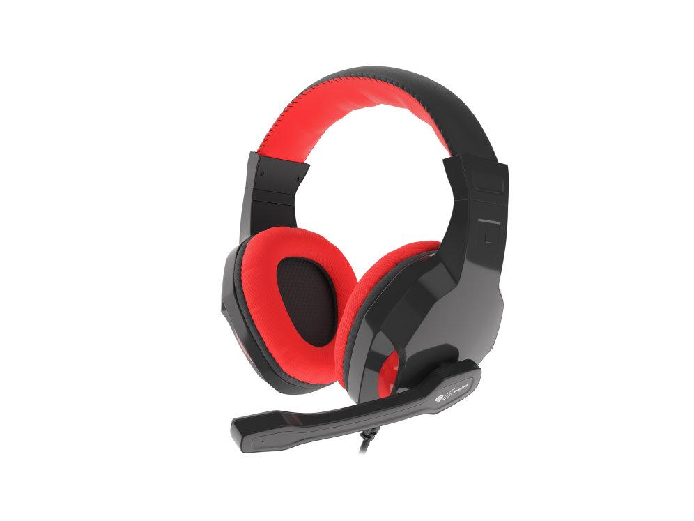 Auriculares gaming genesis argon 100 rojos