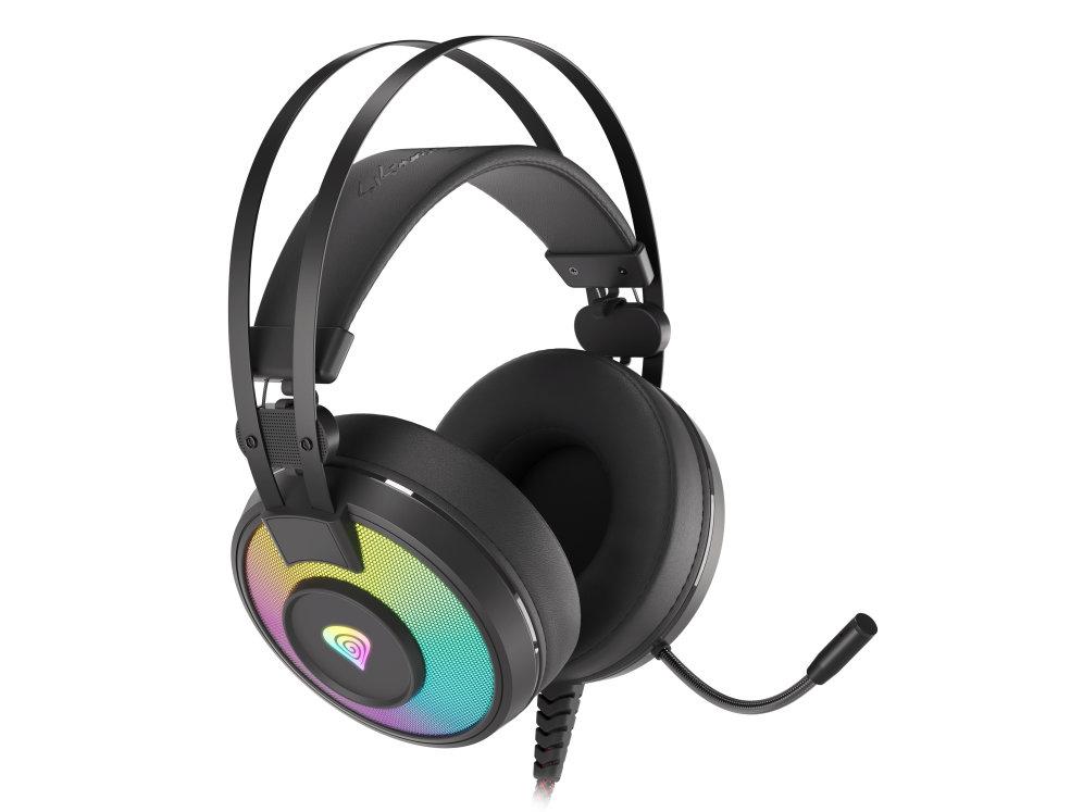 Auriculares gaming genesis neon 600 negro rgb