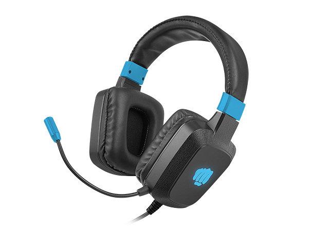 Auriculares gaming fury raptor rgb negro - azul
