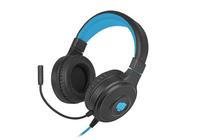 Auriculares gaming fury warhawk rgb negro - azul