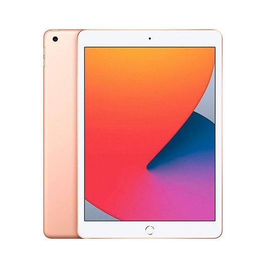 Apple ipad 10.2  2020 128gb wifi gold 8 gen 10.2 - retina - chip a12 - 8mpx - compatible con  apple pencil 1 mylf2ty - a