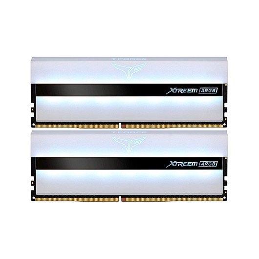Memoria ram ddr4 16gb 2x8gb 3200mhz teamgroup xtreem rgb - blanco - cl 16 - 1.35v tf13d416g3200hc16cdc01