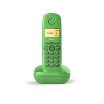 Telefono fijo inalambrico gigaset a170 verde 50 numeros agenda -  10 tonos