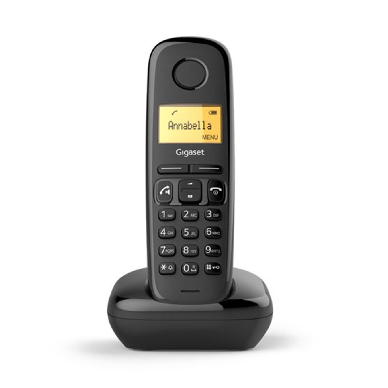 Telefono fijo inalambrico gigaset a270 negro 80 numeros agenda -  10 tonos