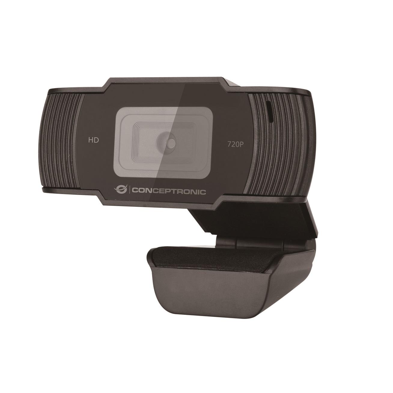 Webcam hd conceptronic amdis05b - 720p - usb 2.0 - 30 fps - angulo vision 68º - microfono integrado