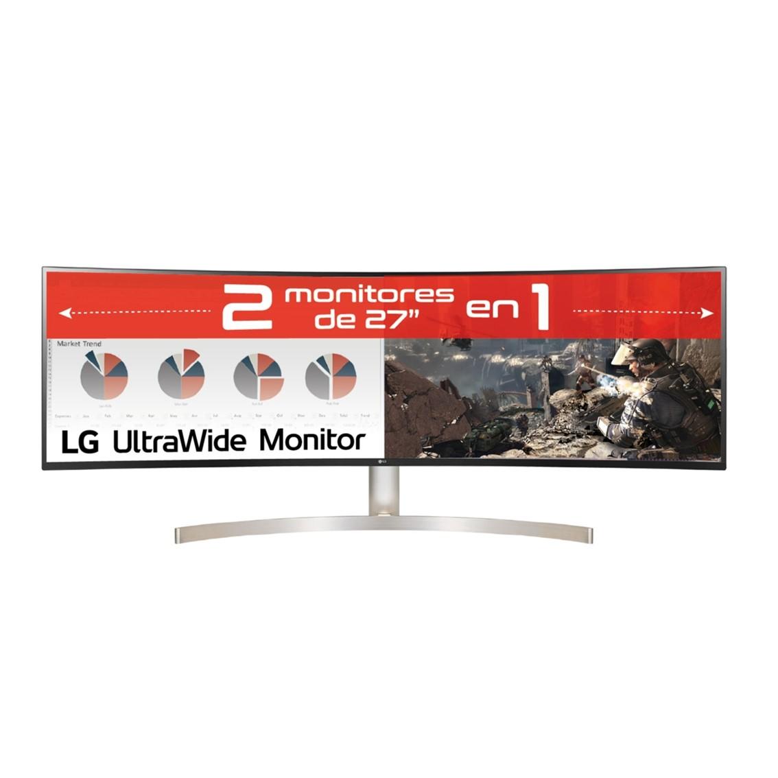 Monitor led lg ips curvo 49wl95c - we 5120 x 1440 5ms hdmi display port usb - c reg. altura