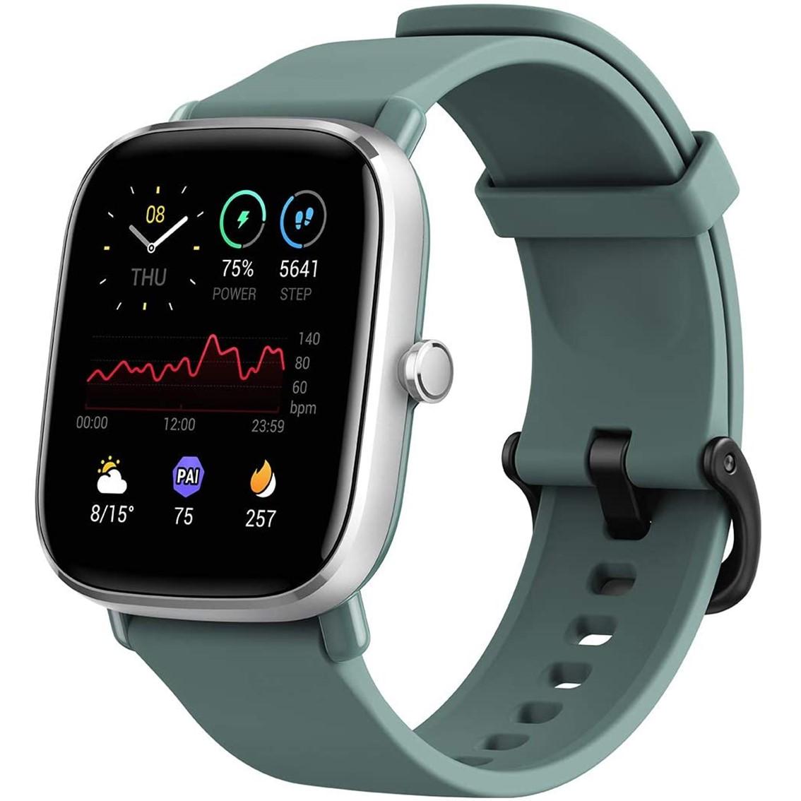 Pulsera reloj deportiva amazfit gts 2 mini sage green -  smartwatch -  1.55pulgadas amoled -   resistente al agua 5 atm