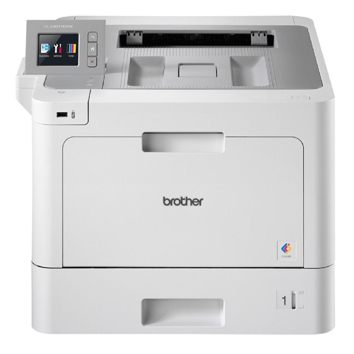 Impresora brother laser - led color hll9310cdw a4 -  31ppm -  1gb -  usb -  duplex impresion -  nfc -  wifi -  red cableada -  conectividad movil - bandeja 250 hojas + multipropósito 50 hojas