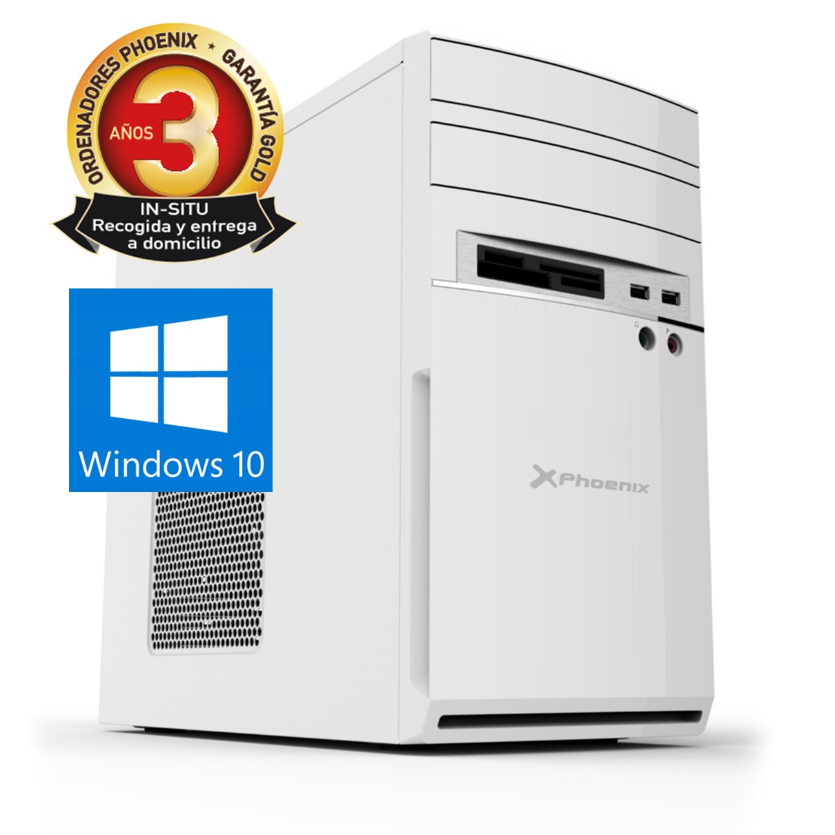 Ordenador pc phoenix moon amd ryzen 3 pro 8gb ddr4 480gb ssd rw micro atx sobremesa wifi windows 10