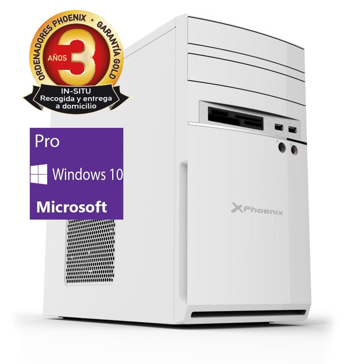 Ordenador pc phoenix moon amd ryzen 3 pro 8gb ddr4 480gb ssd rw micro atx sobremesa wifi windows 10 pro