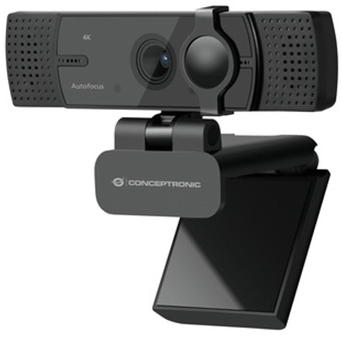 Webcam 4k conceptronic amdis08b 15.9mp -  4k ultra hd - usb - 2.26mm - angulo vision 120º - enfoque automatico - doble microfono integrado