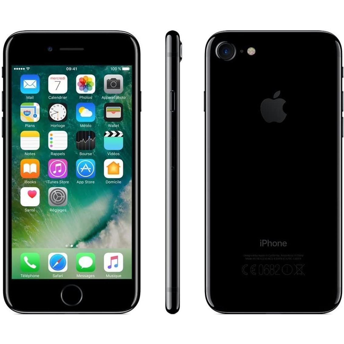 Telefono movil smartphone reware apple iphone 7 128gb jet black - 4.7pulgadas - reacondicionado - refurbish - grado a+