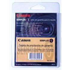 Ampliacion de garantia canon a 3 años ixus laser video mx etc